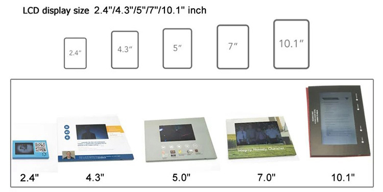 7inch TFT LCD video booklet box/video brochure for advertising