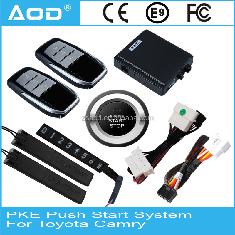 For Toyota Camry car engine start button system start stop push button with GPS trunk