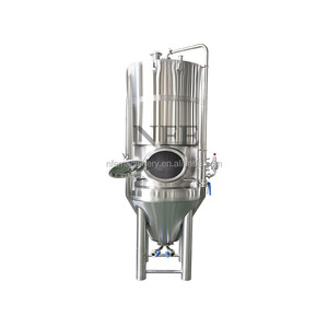 Concial beer bright tank with cooling jacket | stainless steel beer brewing machine | 5BBL 7 BBL high quality beer fermenters