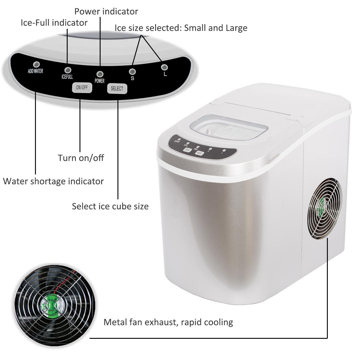 Smad Draagbare Compact Teller Top Mini Cube Ice Maker
