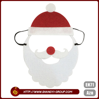 Christmas santa cute design custom masquerade birthday party mask
