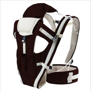 Factory direct adjustable button design soft material multifunctional baby carrier