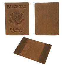 Американский rfid-чехол для паспорта из натуральной кожи, держатель для паспорта, дорожный кошелек из 59550 натуральной кожи Crazy Horse для мужчин(Китай)