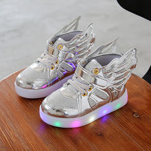 2017 Fashion Children Led Light Sneakers Baby Kids Brand Luminous Glowing Shoes Boys Girls Sneakers Light Sports Shoes