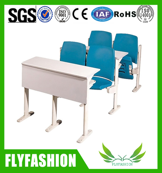 Seminar Hall Furniture College School Table With Folding Chairs