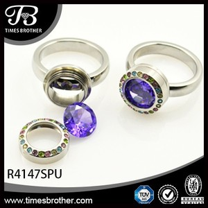 Hot sale floating locket stainless steel ring,gold diamonds rings price,rings jewelry