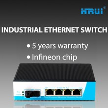 Rosh/Easy install/imported chip Industrial Ethernet switches with 5 ports/cctv data transmission