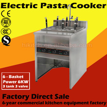 Stainless steel equipment electric chicken and noodles slow cooker with cabinet 6 baskets