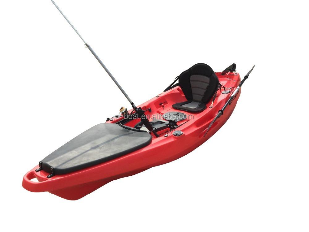 U boat sit on top single fishing kayak wholesale pedal for Kayak accessories for fishing