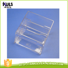 Three layers transparent plastic business card case