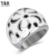 Wedding Finger Chinese style Rings With Name Set For Couples