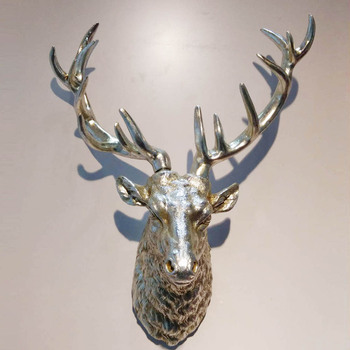 Wall Decor Animal Heads Silver Resin Stag Head Whole Product On