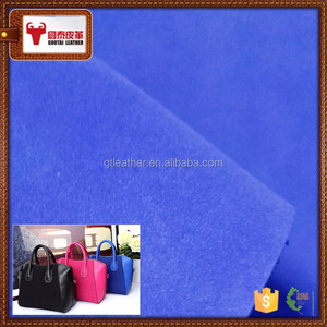 Genuine Leather cow skin nubuck leather For making bags leather