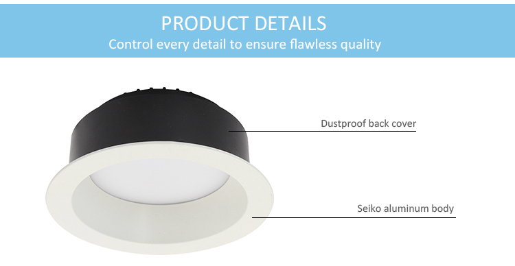 New construction downlight UL certification SMD spotlight ip44 10w 15w gypsum led downlight 4inch 6inch 8inch plastic downlight