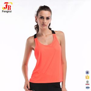 Women Solid Sporty Athletic Gym Tank Tops Racerback Sports Running Yoga Tank Top Exercise Training Fitness Slim Vest For Outdoor