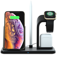 Wireless Charger Stand For Air Pod, Detachable 3 in 1 Phone Wireless Charging Dock Pencil Holder Qi Fast Wireless Charger Holder