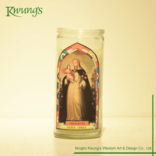 Custom Seven Day Candles Glass Bottle Prayer Candles
