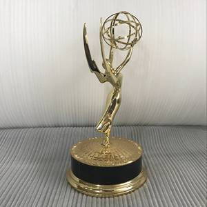 Whole In memory of Emmy metal trophy prize awards 18K gold plating Emmy trophy