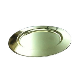 Different size Brass golden silver Plated Charger Plate