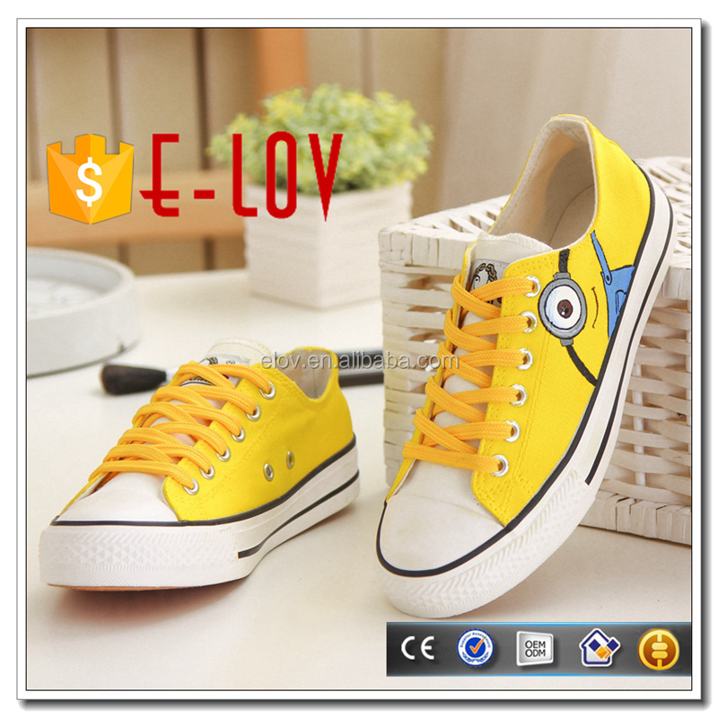 Wholesale new fashion plain white sneakers for women