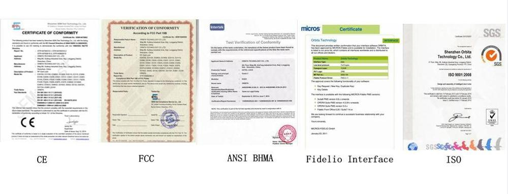 ORBITA ขายส่งโรงแรมล็อคด้วยการ์ดโซลูชันประตูระบบเช่นเดียวกับ Adel 1800 โรงแรม