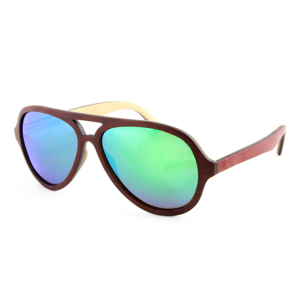 2019 Eco Friendly CE Approved Bamboo Wooden Sunglasses In Bulk Polarized UV400 Really Layer Laminated Wood Sunglasses