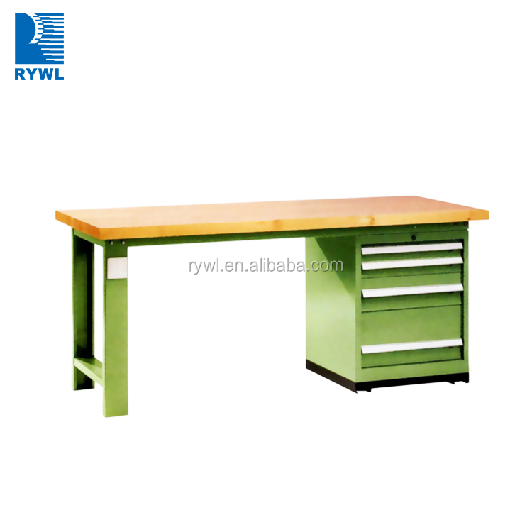 steel table working bench/mechanics work bench with drawers