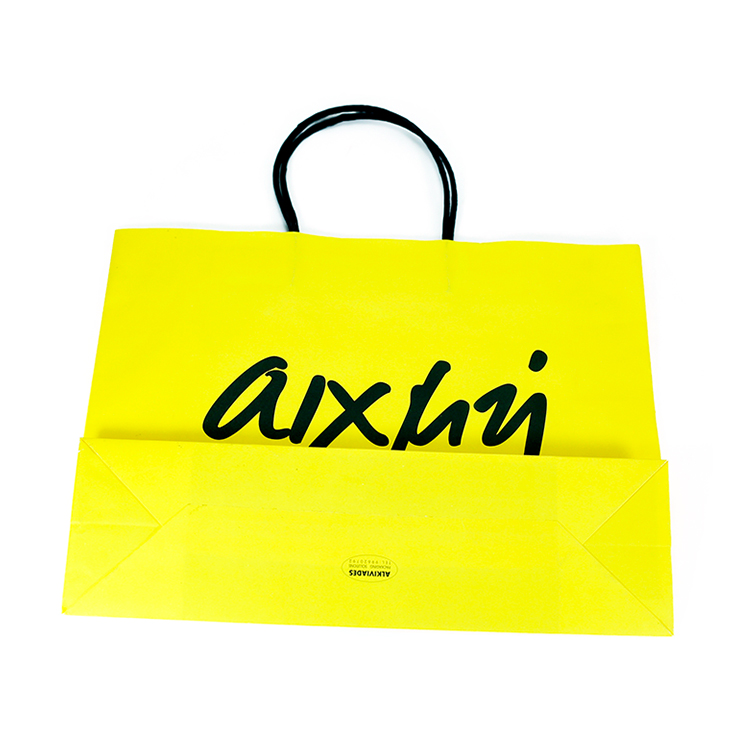 China factory directly Custom design color printing letter paper bag with twisted paper handle