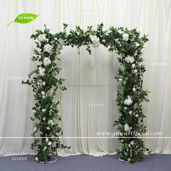Gnw Artificial Green Leaf Arch Garden Decorative Door For Wedding