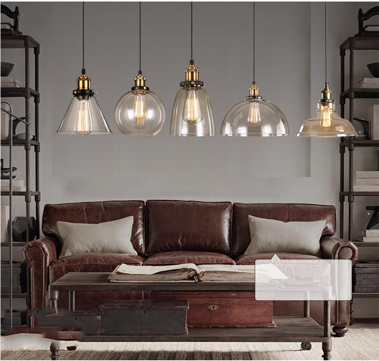 moda campana di vetro lampade a sospensione lampadario moderno cemento arte lampade per albergo casa