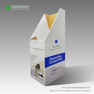 Cost-effective high quality display bins printed cardboard dump bins for curtain rod