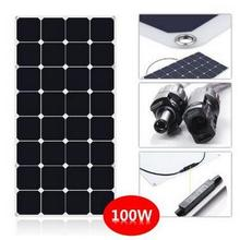 Factory supply semi flexible movable 100w small solar panels for home