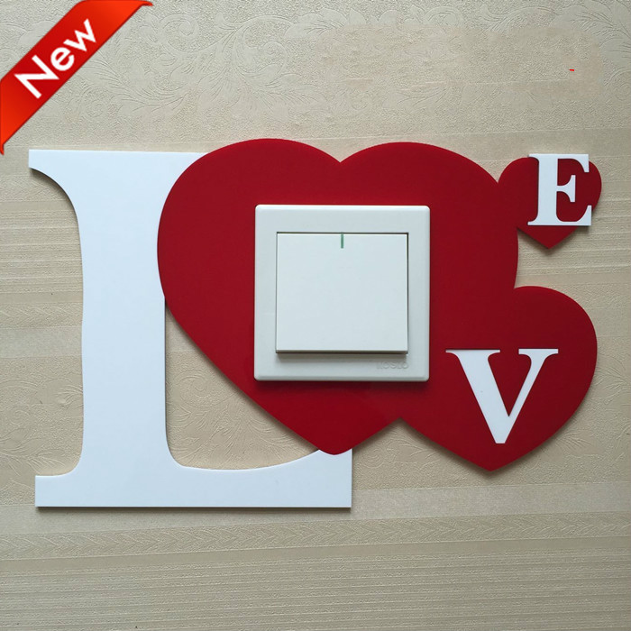 Simple Modern Acrylic Switch Stickers Button 3D Art Wall Stickers Home Decor Decals Poster Dream Catcher DIY Kids Rooms Ornament