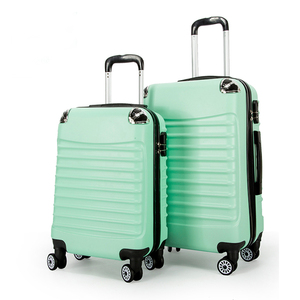 wholesale 20 24 inch protect corner spinner wheels frosted stripe zipper hard case abs trolley luggage