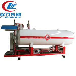 Horizontal LPG Gas Filling Skid Station for cylinder and car
