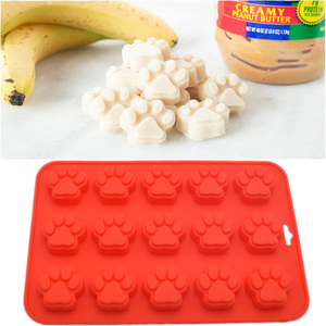 2-Pack Food Grade Silicone Dog Paw And Bone Molds/ silicone Baking Pan /silicone dog treat pan