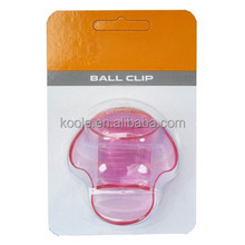 Plastic clip to waistband tennis ball holder