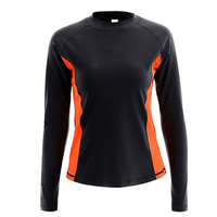 Sublimation Printing Moisture Wicking Lady Rash Guard For Water Sport