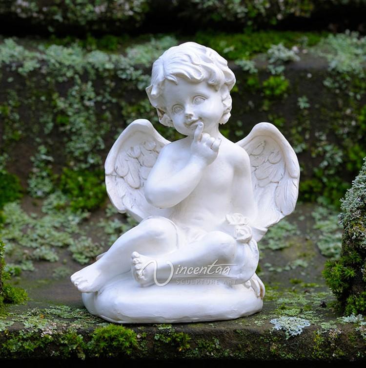 jardn o docration casa escultura de mrmol querubn ngel estatuas de tamao natural de piedra para