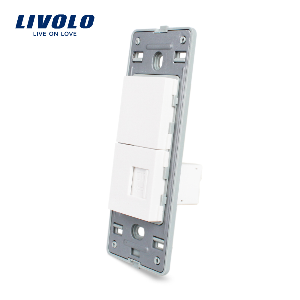 Livolo US Computer socket RJ45 Socket With White Pearl Crystal Glass <strong>Internet</strong> wall socket without glass VL-C5-1C-<strong>11</strong>