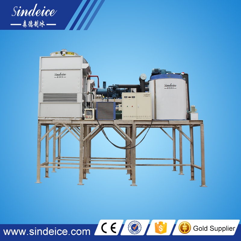 industrial concrete cooling flake ice making machine 10 Tons/day