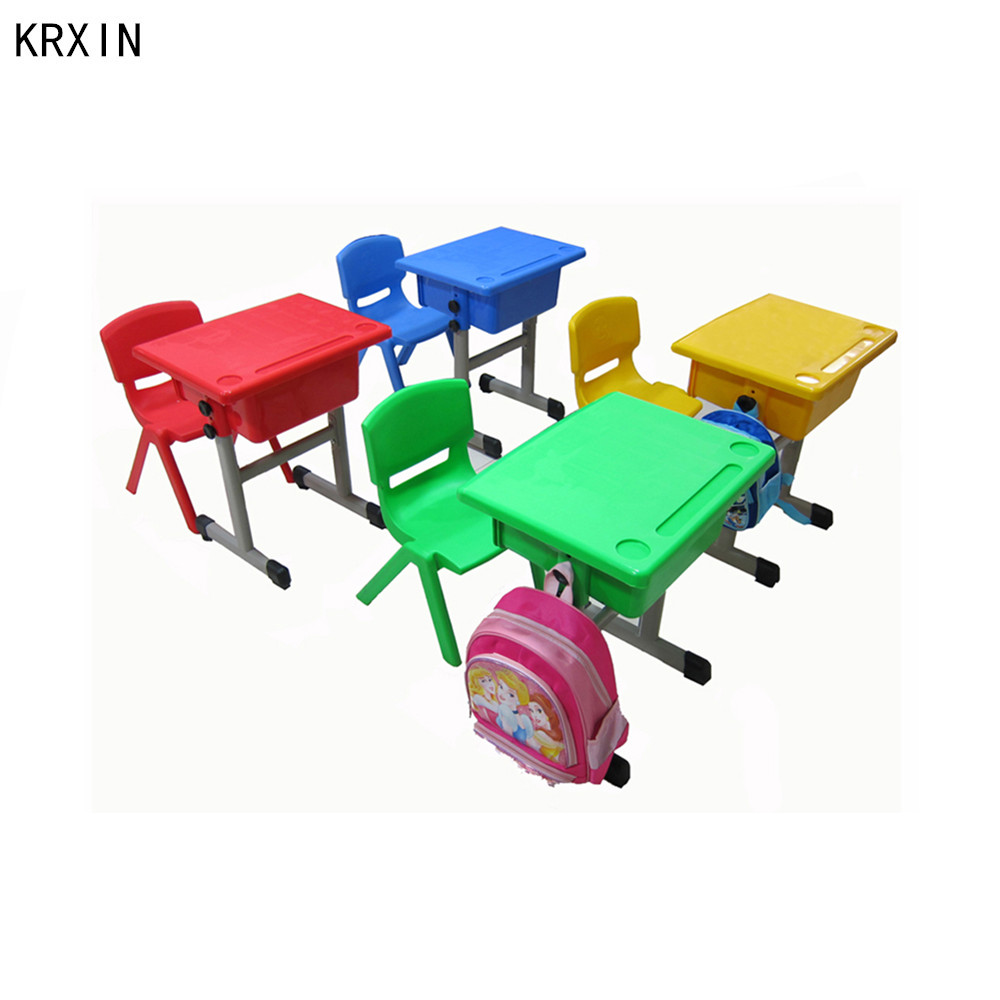 classroom single study desk chair set for kids
