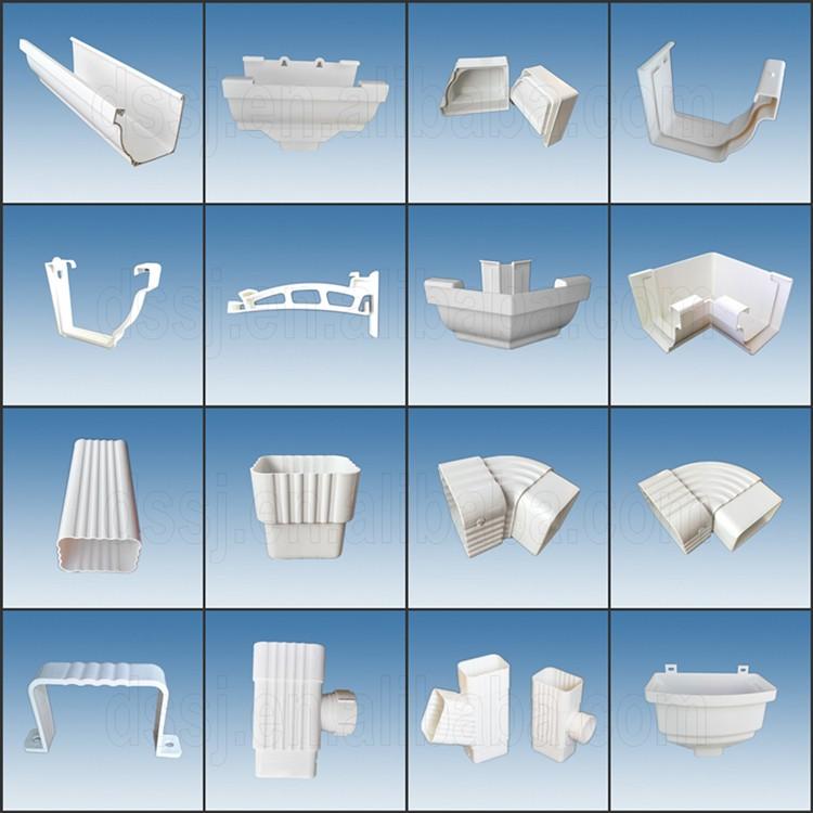 Best sale high quality pvc upvc profile for roof pvc rain - Canalones de plastico ...