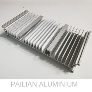 cnc machining large aluminium led heat sinks, Extruded wide sectional view aluminium aluminum heat sink shapes/ profiles