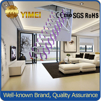 Semi- automatic Telescopic Magnesium-Titanium Alloy Attic Folding Stair YM01