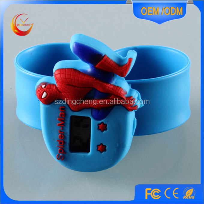 silicone slap watch glow in the dark,slap band wrist watches,waterproof slap watch manufacture