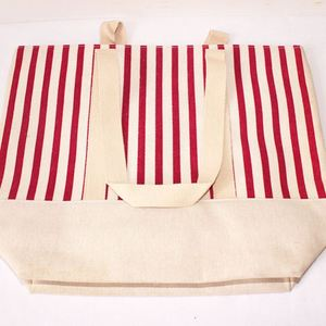 High Quality Blank Polka Dot Canvas Cotton Tote Bag