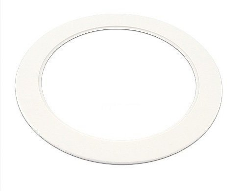 """Plastic White Light Trim Ring Recessed Can 6"""" Inch Over Size Oversized Lighting Fixture (OD 7 7/8 Inches) (ID 5 7/8 Inches) NO MOUNTING HARDWARE, SPRINGS, OR BAFFLE INCLUDED"""