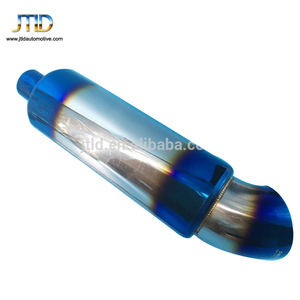 high performance blue burnt racing rainbow car exhaust muffler