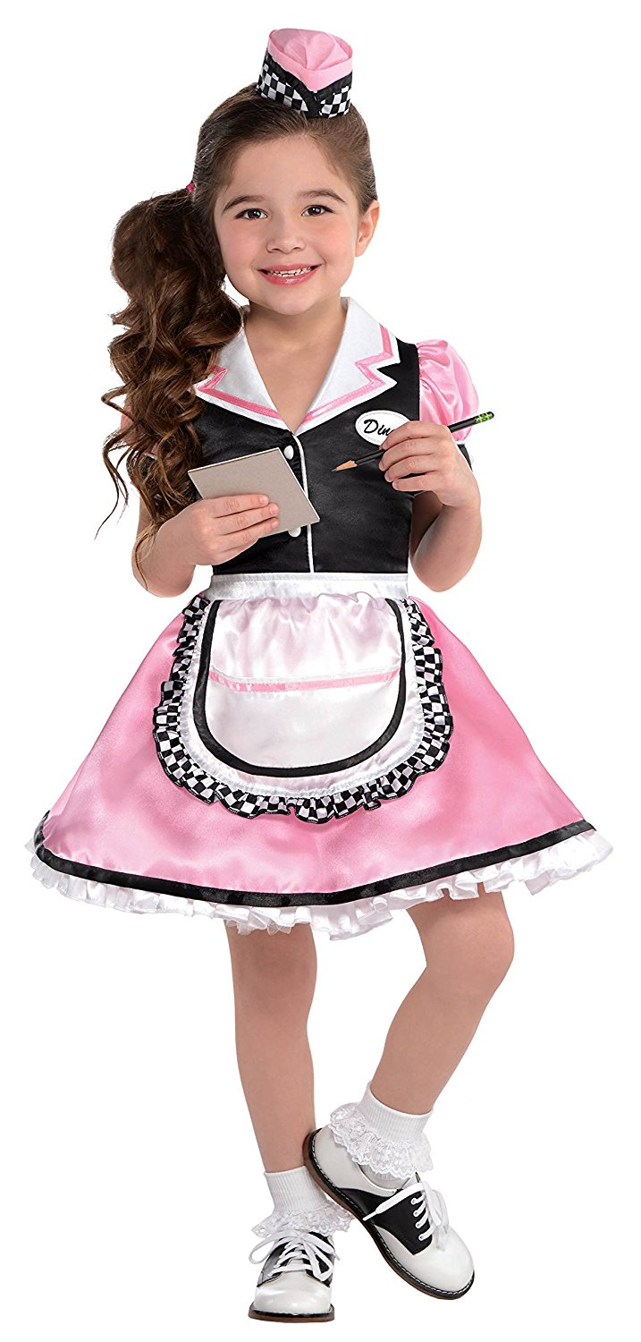 8f737a963c41 Get Quotations · Little Girls Dinah Girl 50's Sock Hop Waitress Costume